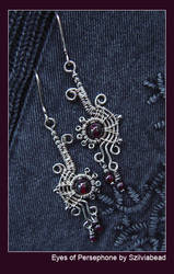 Eyes of Persephone earrings by bodaszilvia