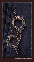 Gaia earrings by bodaszilvia