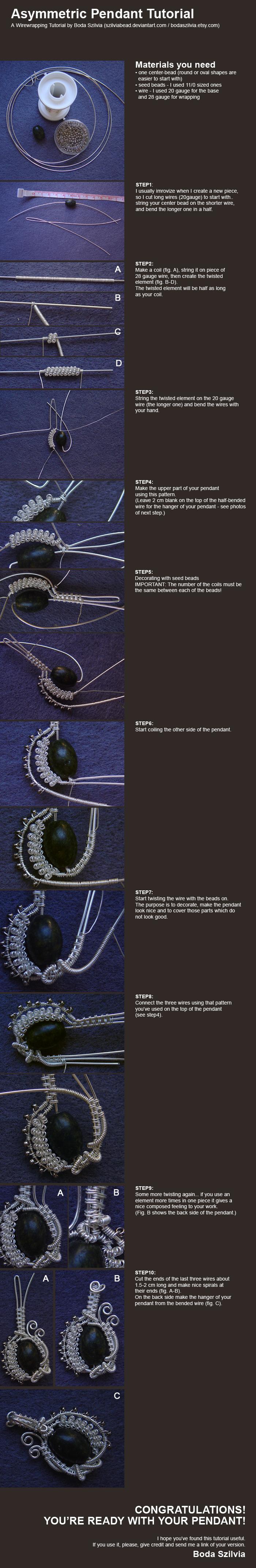 wirewrapped pendant tutorial by bodaszilvia