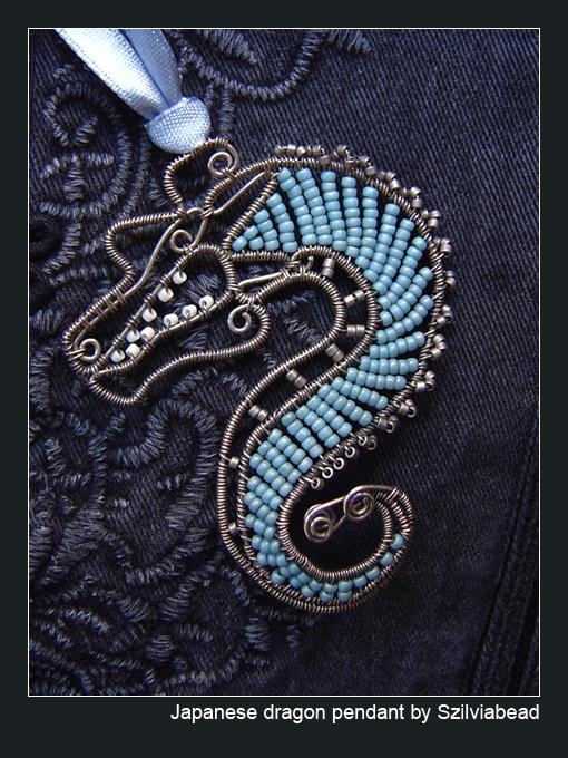 Japanese dragon pendant by bodaszilvia