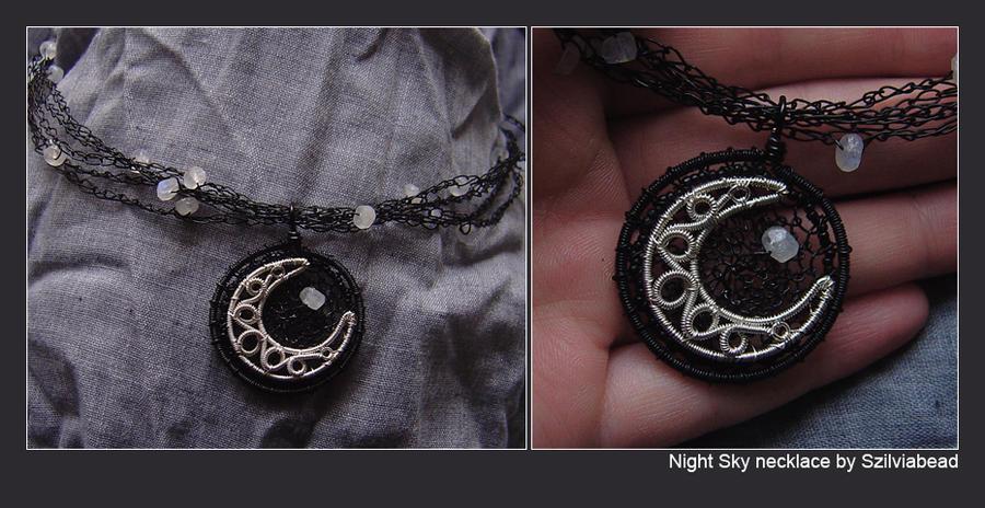 Night sky necklace by bodaszilvia