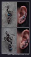 two more custom ear cuffs