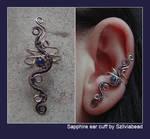 Sapphire ear cuff