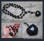 Black Valentine necklace