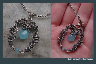 Siren necklace by bodaszilvia