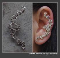 Diana's bow ear cuff by bodaszilvia