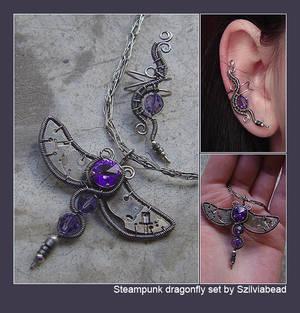 Steampunk dragonfly set
