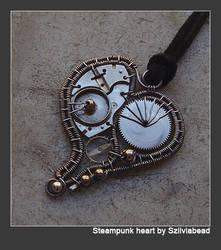 Steampunk heart pendant- by bodaszilvia