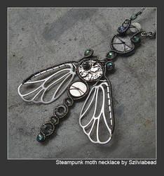 Steampunk moth necklace by bodaszilvia