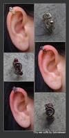 Tiny ear cuffs
