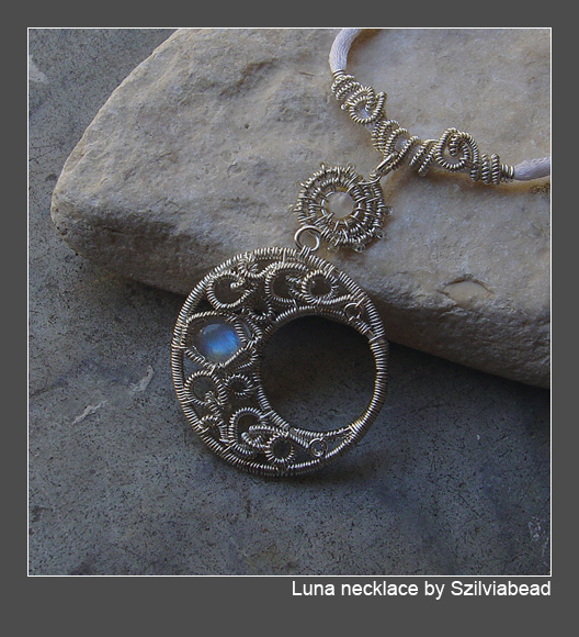 Luna necklace by bodaszilvia