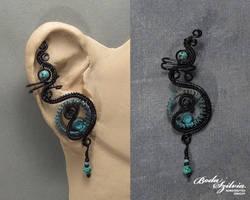 Steamgoth ear cuff by bodaszilvia