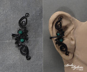 Back leaves ear cuff by bodaszilvia