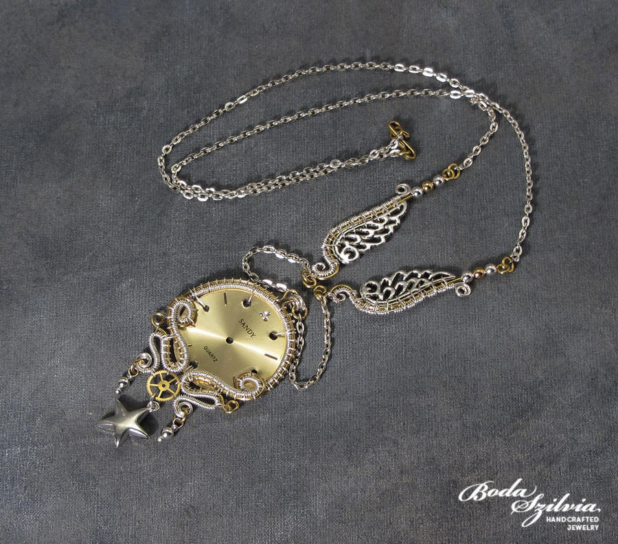 TIMELESS steampunk necklace 2. by bodaszilvia