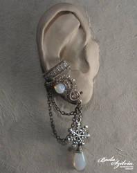 Snowflake ear cuff by bodaszilvia