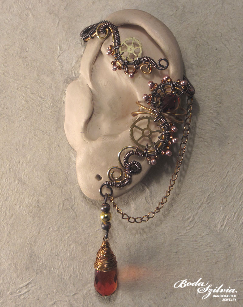 Steampunk ear wrap by bodaszilvia