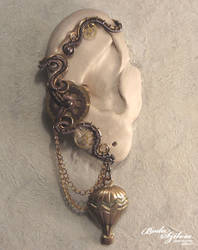 Steampunk traveller ear wrap