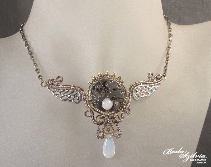 Timeless steampunk necklace by bodaszilvia