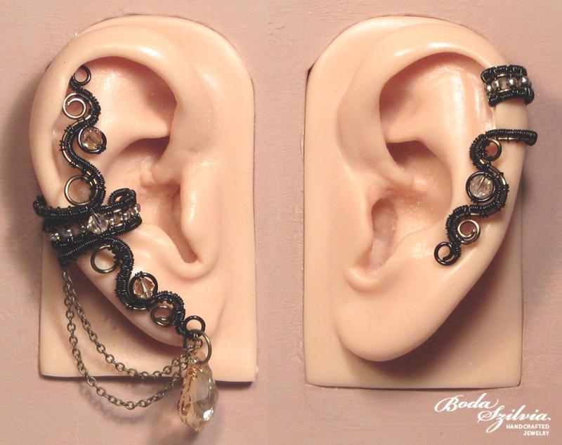 Gothic ear cuff set by bodaszilvia