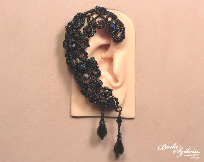 Raven ear wrap by bodaszilvia