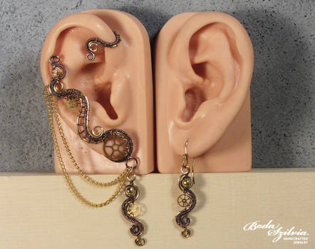 Steampunk ear wrap set