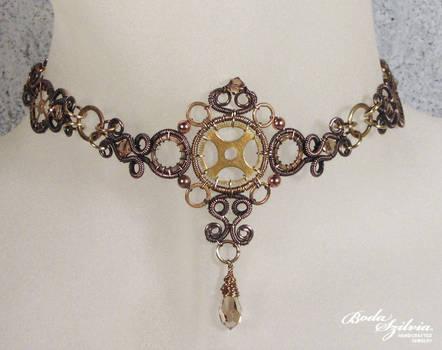 Steampunk choker necklace