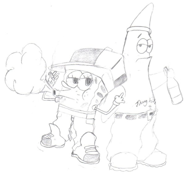 Gangster Patrick Drawing