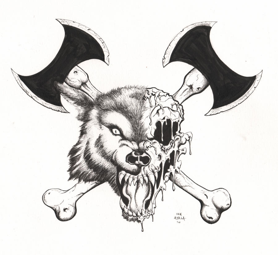 wolf head tattoo by ianayala on deviantart. Black Bedroom Furniture Sets. Home Design Ideas