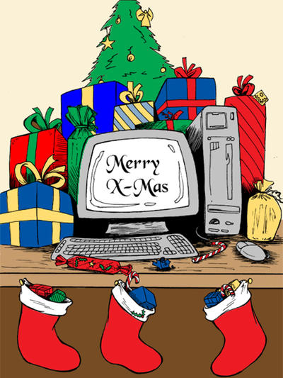 Computer Christmas card by mrdenmac on DeviantArt