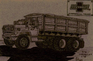 1978 Chevrolet C70 Tandem Axel Grain Truck by Deorse
