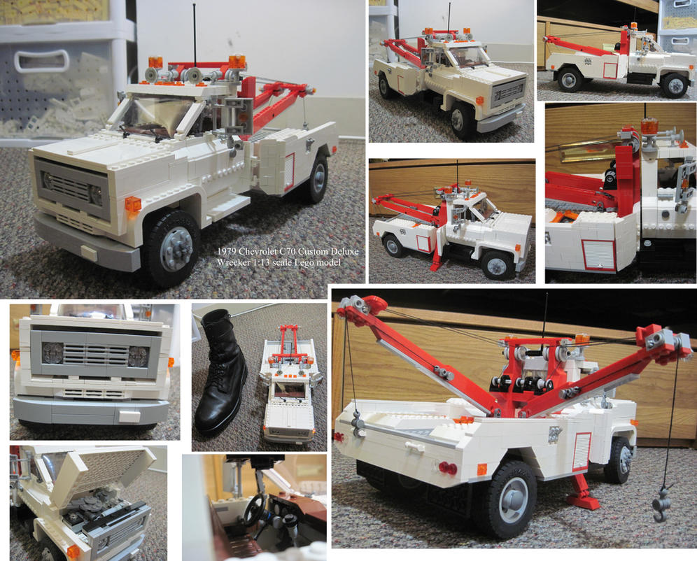 Lego 1979 chevrolet c70 custom deluxe tow wrecker by deorse