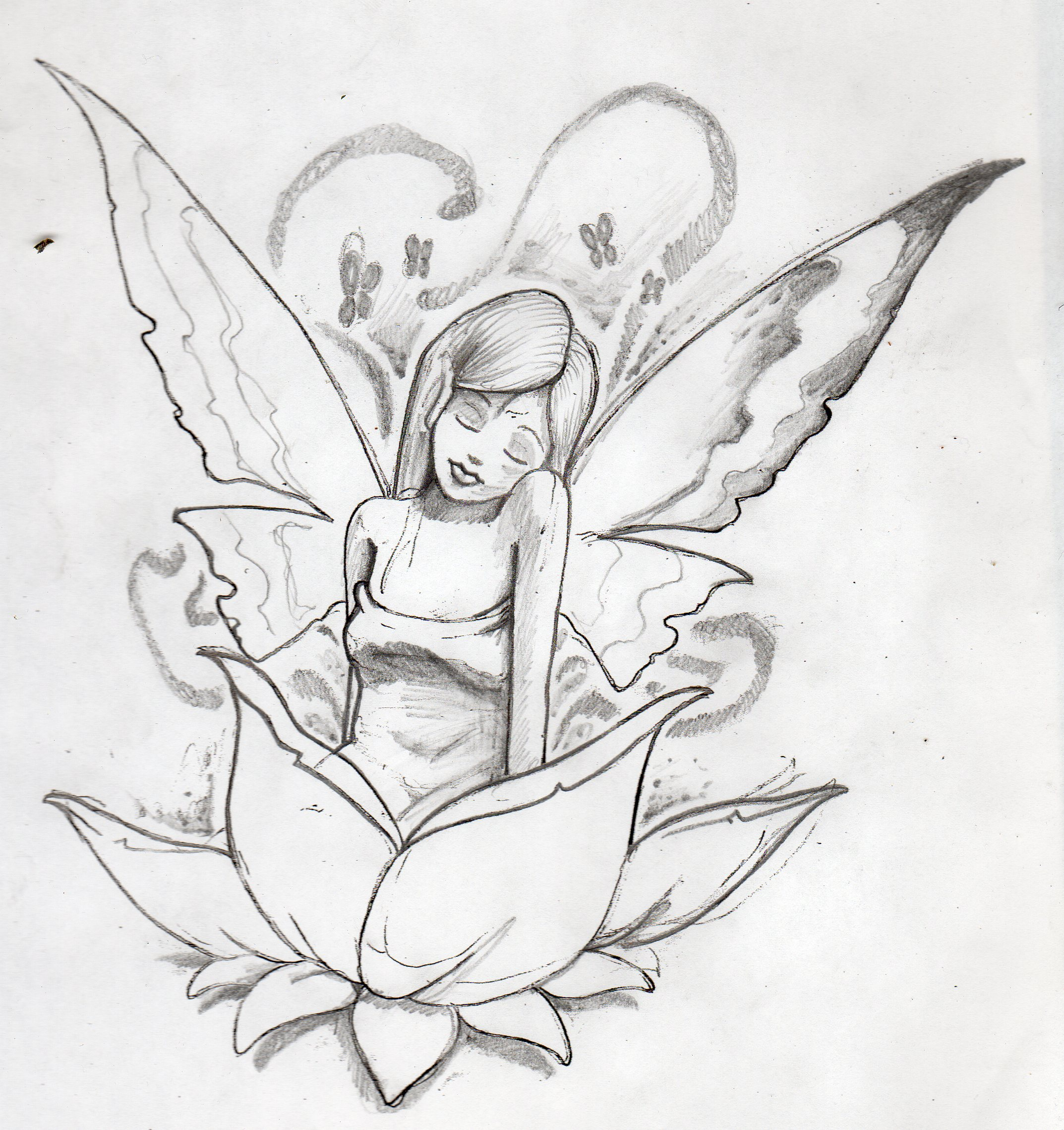 Fairy Sketch 2 by alivetoknow on DeviantArt