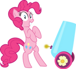 Pinkie with party cannon
