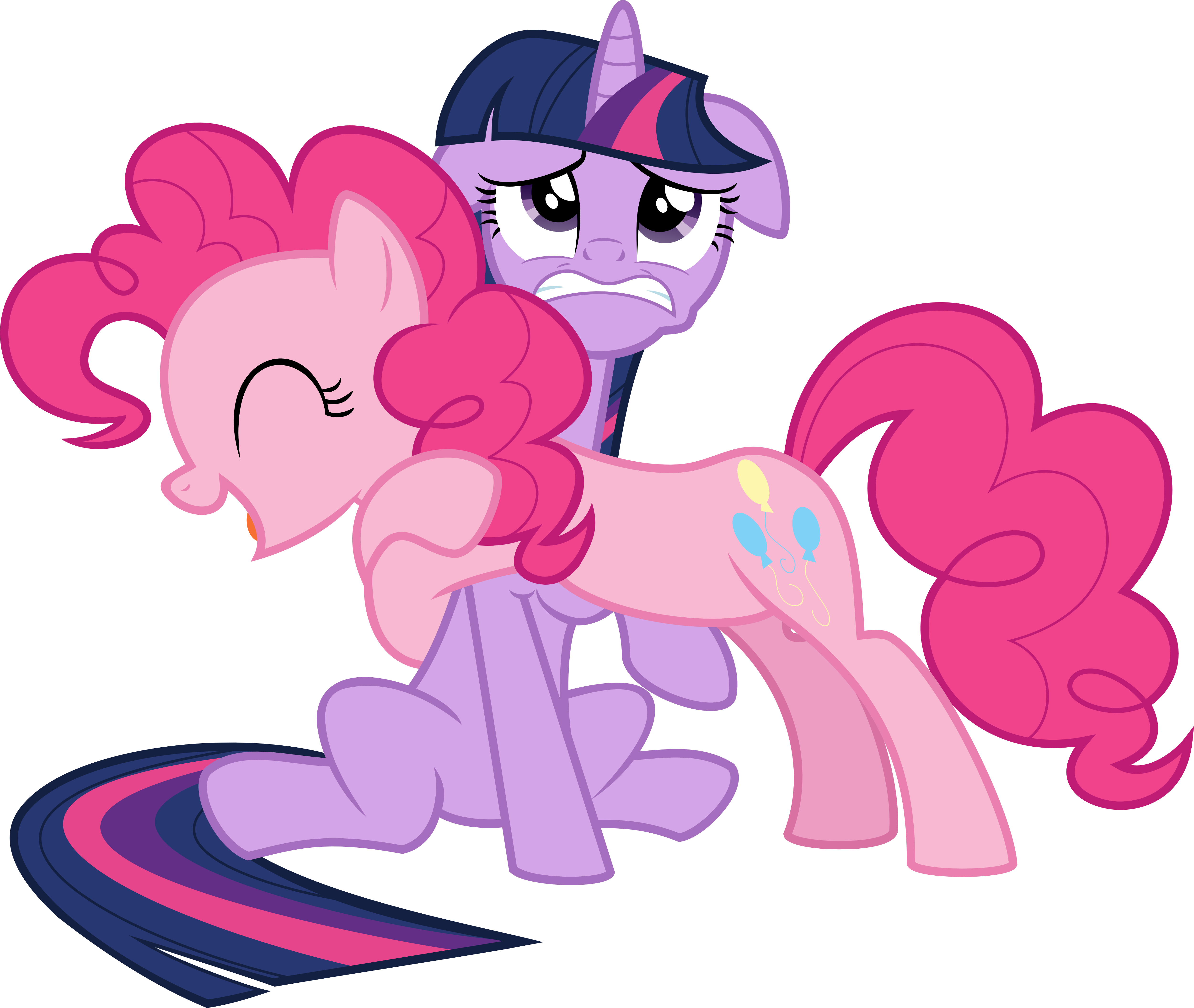 Pinkie Hug by MrCbleck