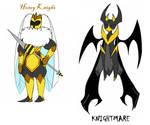 Shovel Knight OCs - Honey Knight and Knightmare