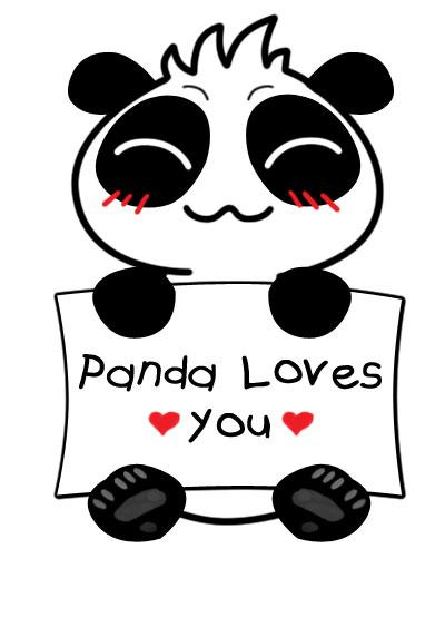 Panda loves you ~^_^~ by rios-michikeru on DeviantArt