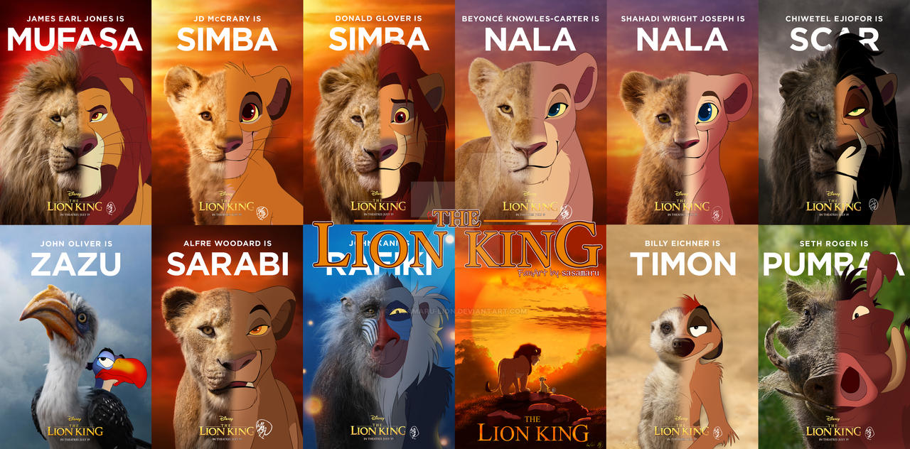 2019 The Lion King All Character By Sasamaru Lion On