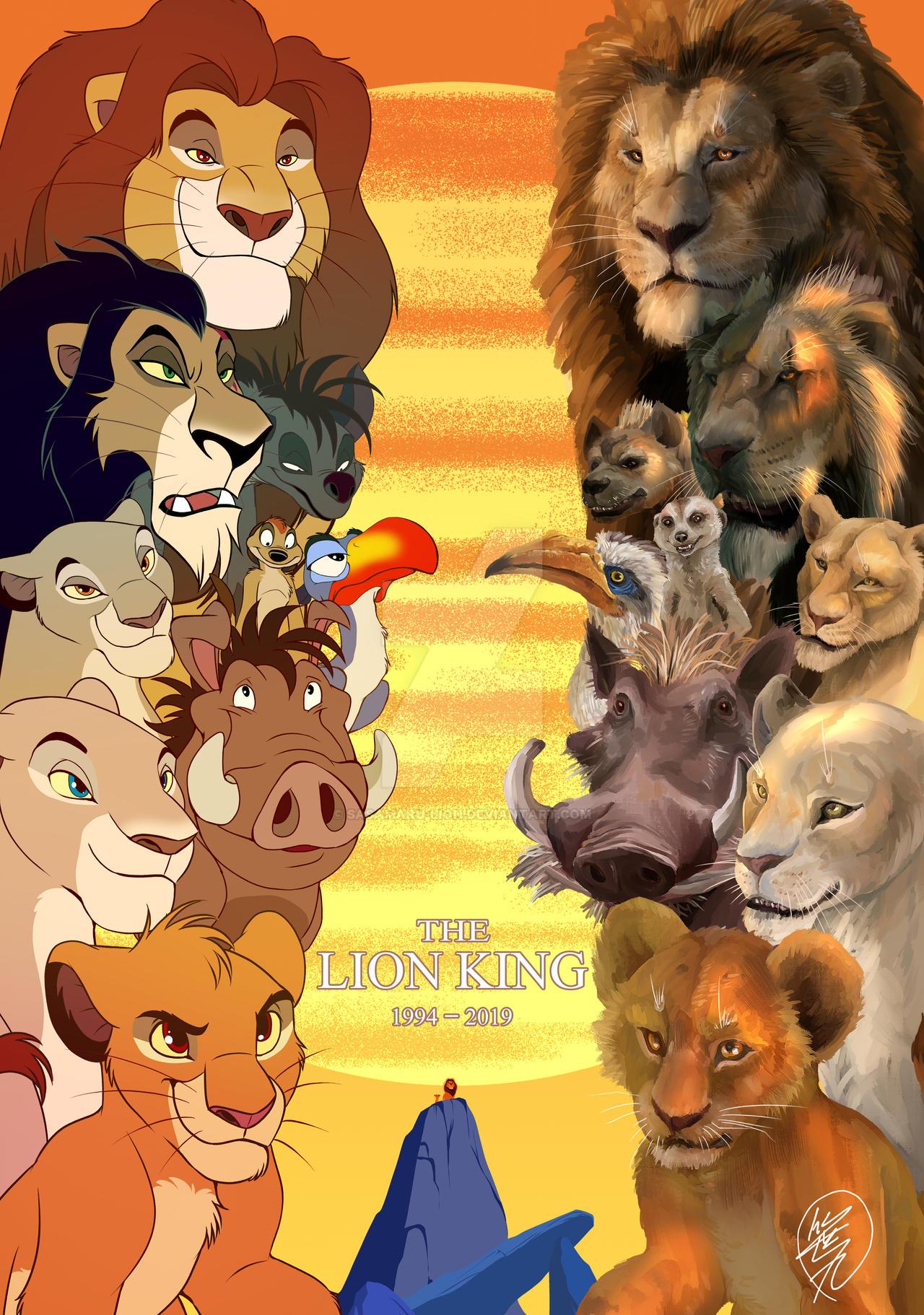 Lionking 1994 2019 By Sasamaru Lion On Deviantart