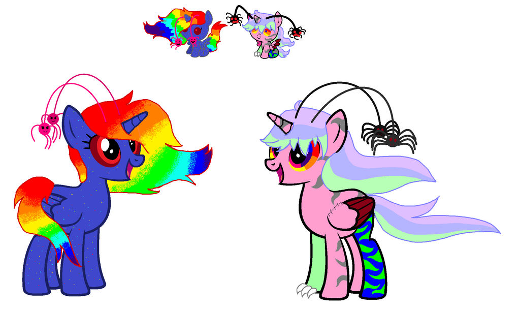 Adopted Ponies: Confeti and Pastel