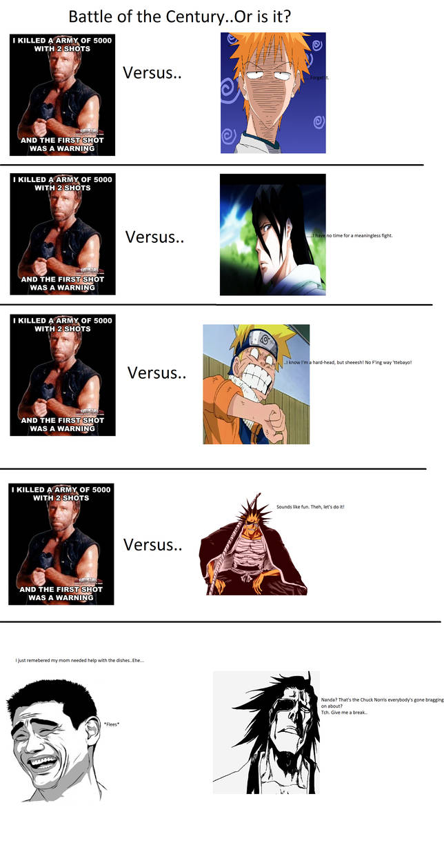 Meme Chuck Norris Versus By Askzaraki Kenpachi On Deviantart