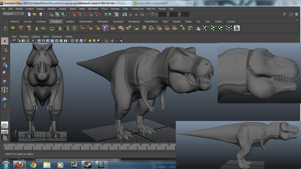 T rex template with autodesk maya v2 by leomon90 on deviantart for Autodesk maya templates