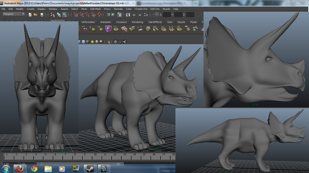 autodesk maya templates triceratops template with autodesk maya by leomon90 on