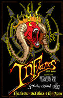 In Flames Tour Poster by luvataciousskull