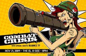 Combat Crisis Tour Poster by luvataciousskull
