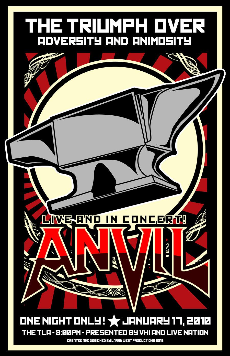 ANVIL Tour Poster 2010