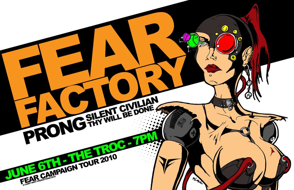 fear factory tour poster 2010 by luvataciousskull on deviantart. Black Bedroom Furniture Sets. Home Design Ideas