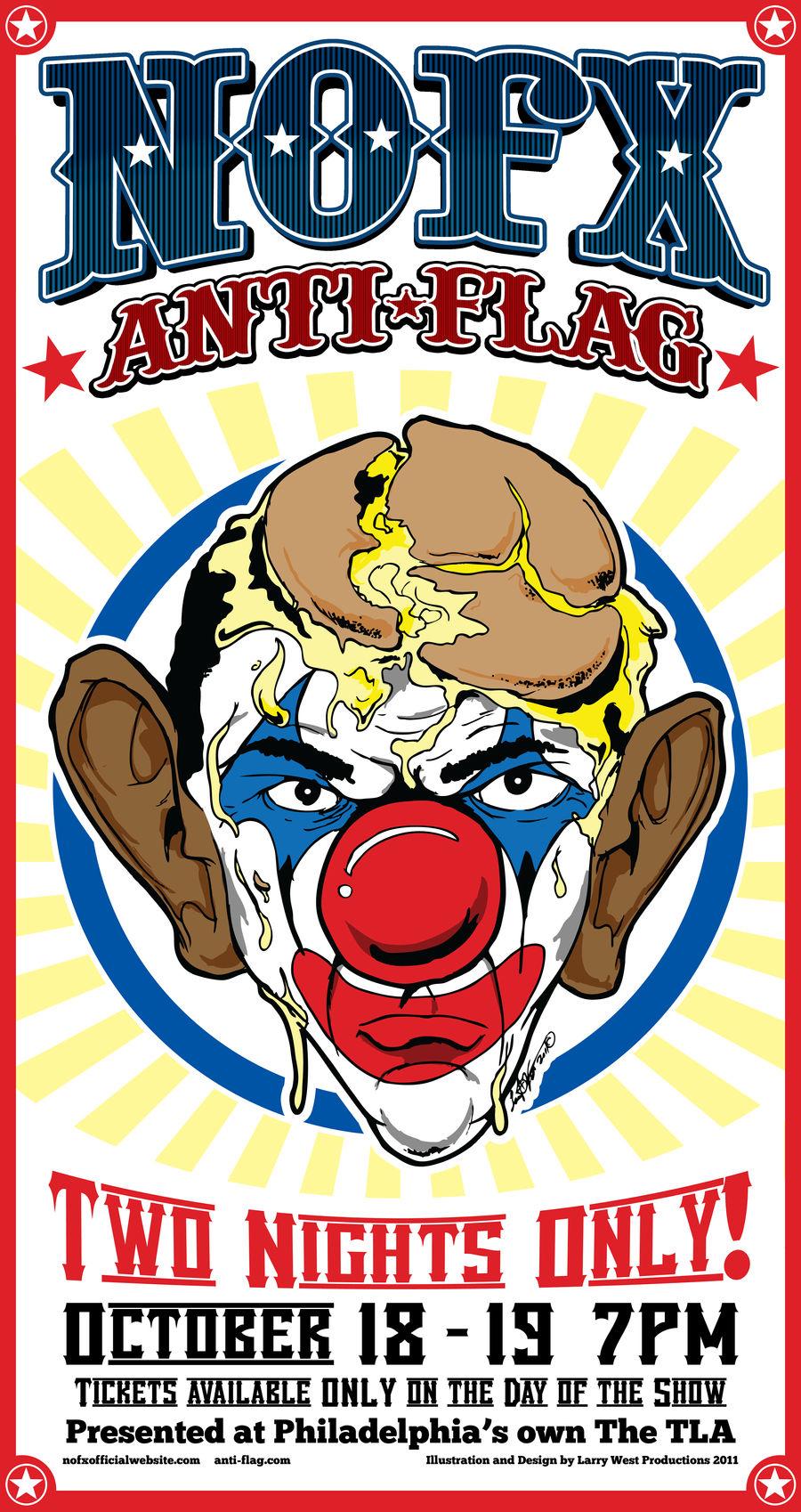 NOFX 'Obama Clown' Poster