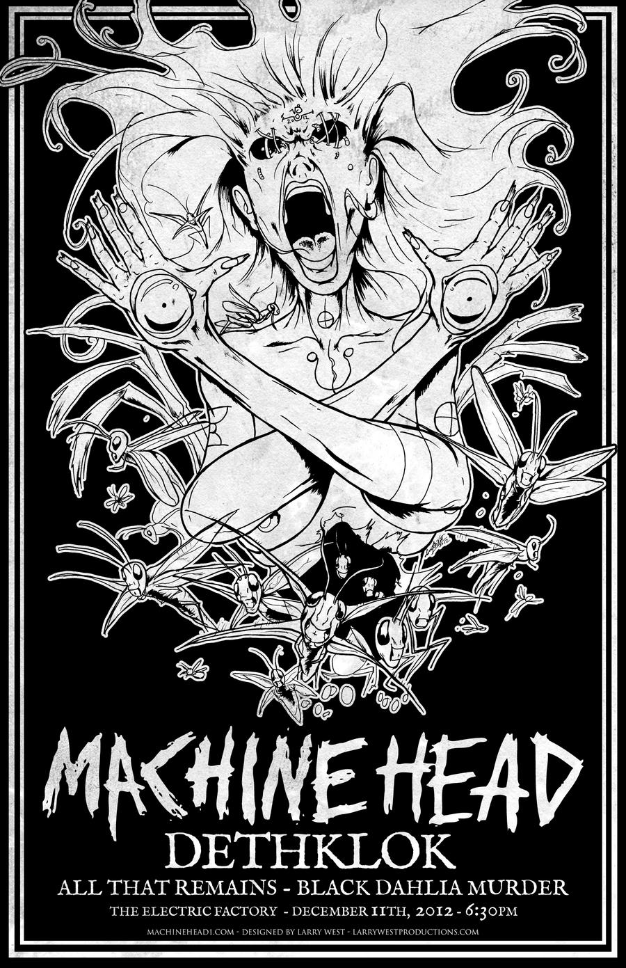 famine machine head dethklok 2012 gig poster by luvataciousskull on deviantart. Black Bedroom Furniture Sets. Home Design Ideas