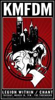 KMFDM 2013 Gig Poster - Philly Makes you Crazy