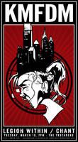 KMFDM 2013 Gig Poster - Philly Makes you Crazy